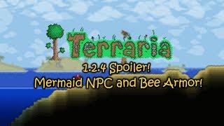 Terraria 1.2.4 Spoiler! [ Mermaid NPC and Bee Armor! ]