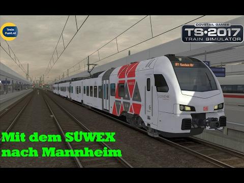 Mit dem SÜWEX nach Mannheim | Flirt 3 Suwex | Train Simualator 2017