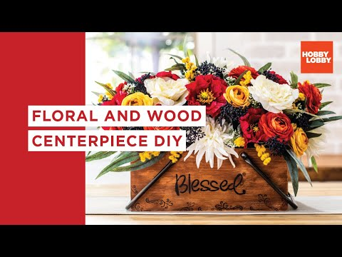 Wood & Floral Centerpiece DIY