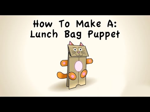 How to Make a LunchBag Puppet