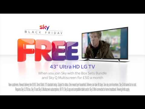 """Sky Black Friday has arrived with a FREE 43"""" UHD LG TV"""