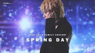 180622 롯데패밀리콘서트 봄날 SPRING DAY / 방탄소년단 뷔 직캠 (BTS V)