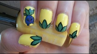 Pokémon Inspired Nail Art Design ft. Oddish