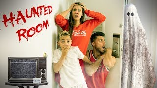 We Stayed In A HAUNTED HOTEL ROOM!!!   The Royalty Family