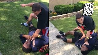 Hot-headed cop pins a teenager for walking on his grass | New York Post