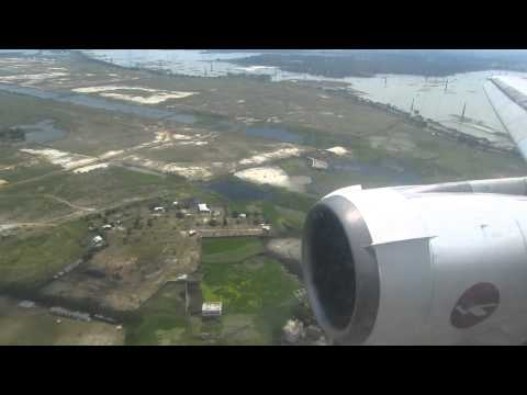 Biman DC-10-30 S2-ACO Landing at Dhaka 2012 – Window View