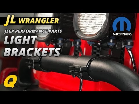 Mopar Light Mounting Brackets for Jeep Wrangler JL with Rubicon Steel Front Bumper and Winch Guard