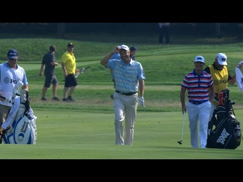 Ryan Palmer's perfect eagle hole out at PGA Championship