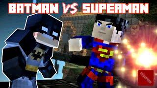 Batman vs Superman Death Match - Minecraft Story Mode (Super Hero Theme)