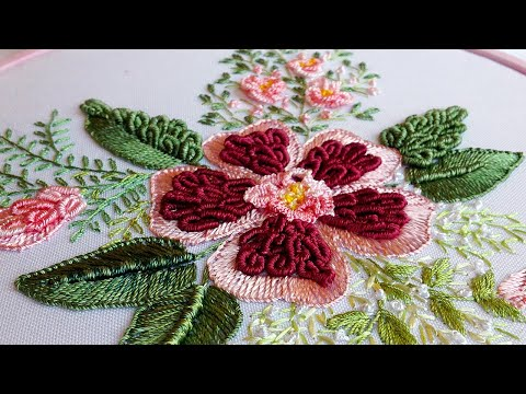 Brazilian embroidery | Buttonhole stitch| Бразильская вышивка|Bordado brasileño