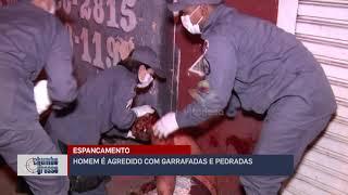Homem é espancado com garrafadas e pedradas em Uberlândia