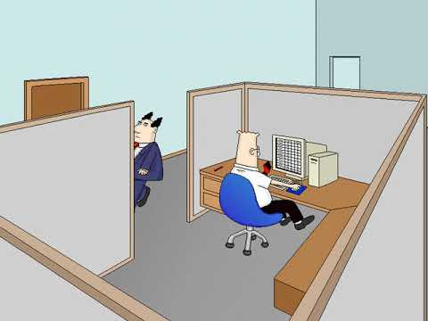 Dilbert: Screen Saver Collection (Dilbert at Work) (Delrina) (Windows 3.x) [1994]