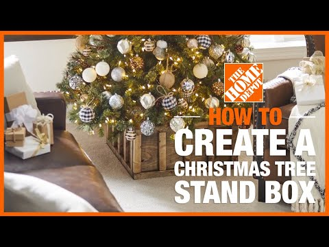 A video showing how to make a Christmas tree stand box.