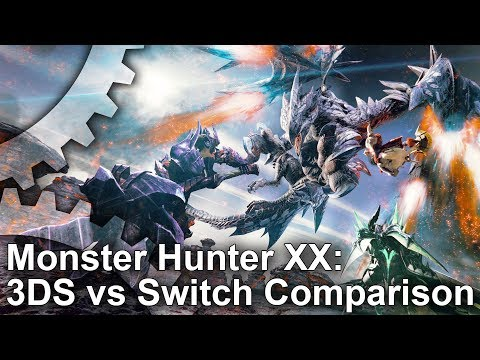 Monster Hunter XX: Switch vs 3DS Graphics Comparison + Frame-Rate test