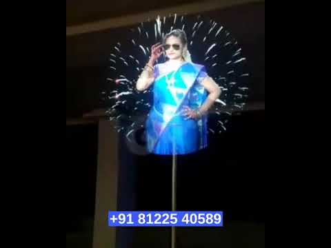 Big Hologram Fan Digital Wedding Marriage Technology #Chennai #Bangalore #Goa +91 81225 40589
