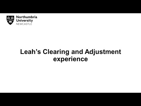 Change of career   Northumbria University Clearing 2018