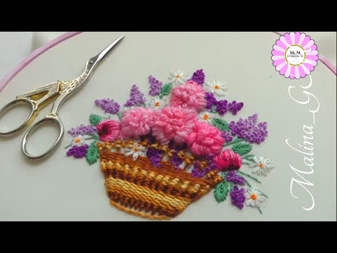 Embroidery design + 3 stitches for embroidery baskets