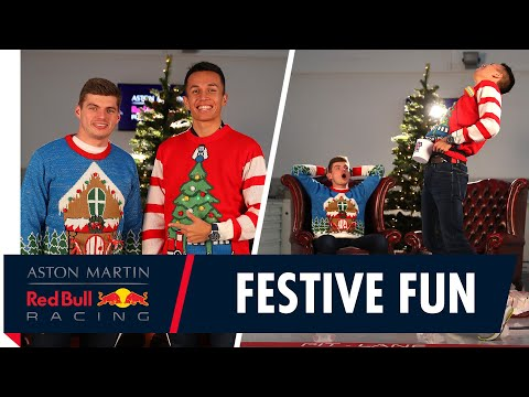 Festive Fun | Max Verstappen and Alex Albon Share Gifts And Jokes