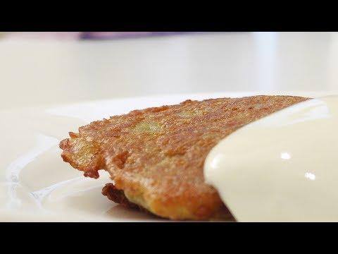 Картофельные блины с мясом (Колдуны) видео рецепт