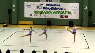 Ginástica Aeróbica Trio Infantil Campeão Sulamericano 2015