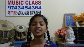 """Jayatu Jaya Ganapa'DEVOTIONAL""""kannada song by DEEKSHA. K(JK Music Class)"""