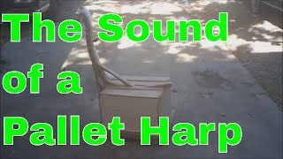 How to Make a Primitive Harp from a Pallet Part 2 Adungu, Ceng, or Konghou