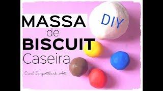 Como fazer MASSA de BISCUIT CASEIRA e colorida - Dica econômica de Artesanato