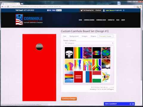 www.CornholeBoards.us Online Design Color Changing Tutorial
