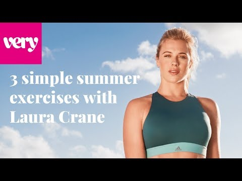 very.co.uk & Very Voucher Code video: Simple Summer Exercises With Laura Crane