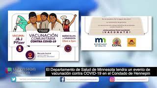 8-23 | MDH tendra un evento de vacunación contra COVID-19 en el Mercado Central de Minneapolis