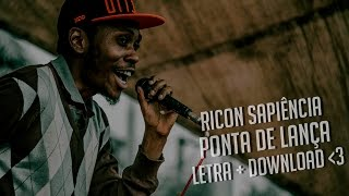 Ricon Sapiência - Ponta de Lança (Lyric Video + Download)