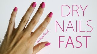 5 Ways To Dry Your Nails Fast!