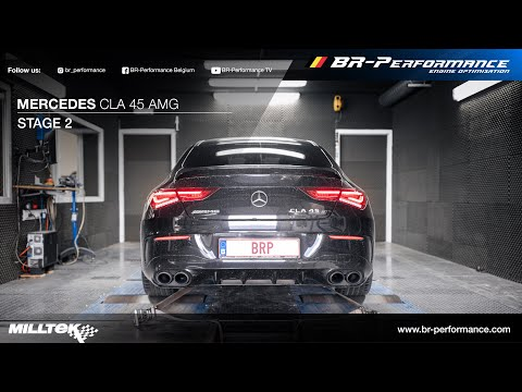 Mercedes CLA 45 AMG / Stage 2 By BR-Performance / MILLTEK exhaust