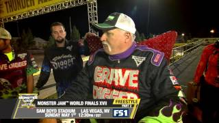 Monster Jam World Finals Freestyle Part 2 in Las Vegas on FS1 - May 1, 2016