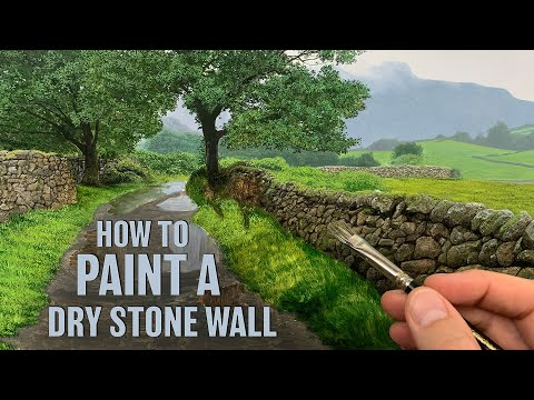 How to paint a dry stone wall | Episode #178