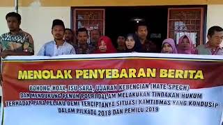 Masyarakat Kembang Daya Lotim siap mendukung Kelancaran Pilkada 2018 yg damai serta menolak berita h
