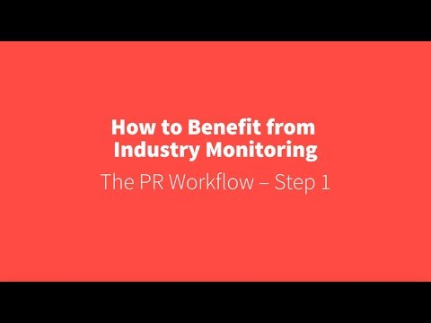 PR Academy - How to benefit from industry monitoring