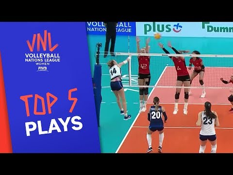 Top 5 actions of the #VNLWomen Week 1!   Volleyball Nations League 2019