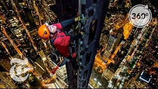 Climbing 1 World Trade Center: Man on Spire | 360 VR Video | The New York Times