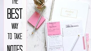 How to: Take the BEST creative NOTES   Make studying EASIER + QUICK!