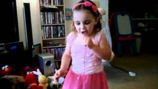 3 year old girl singing her favorite song, Mama I'm Coming Home by Ozzy