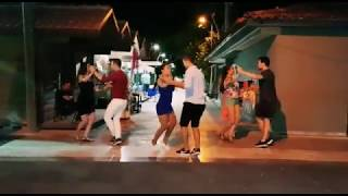 Mine & Serkan Bachata Team • Dancing on Holiday • (Grupo Extra -  Me Emborrachare)