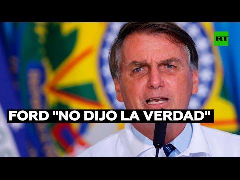 Bolsonaro afirma que Ford se retiró de Brasil porque quería seguir recibiendo subsidios