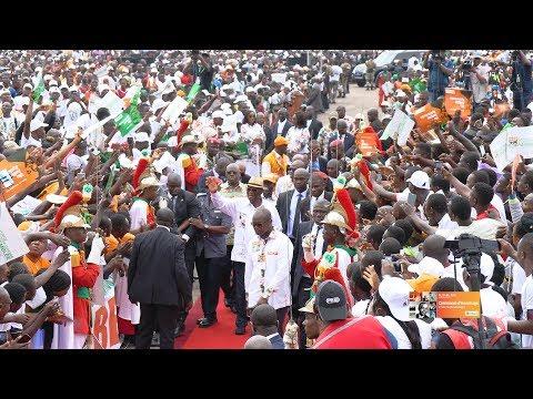 Meeting géant en hommage au Président Félix Houphouet Boigny à la place Jean Paul 2 de Yakro