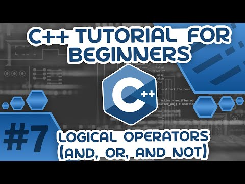 Learn C++ With Me #7 - Logical Operators (And, Or and Not)