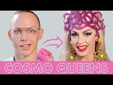 Best of Alyssa Edwards' Drag Makeup Transformations! | Cosmo Queens | Cosmopolitan