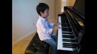 CUTE 5 years old plays ABRSM Grade 1 piano exam 2013-2014