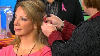Pink Hair Extensions for Breast Cancer Awareness on WCIU