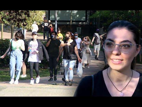 Görüntüler Maçka parkından... 'Biz bilmiyorduk normalleşmedi mi hayat?'