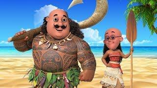 Motu Patlu VS John Moana & Maui Learn Colors for Kids Motu Patlu Coloring in Hindi 3D Animation width=